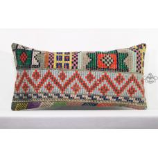 Bohemian Style Pillow Modern Kilim Pillowcase Turkish Cottage Lumbar Cushion Sham