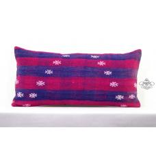 Embroidered Lumbar Pillow Interior Decoration Cushion Sham Kilim Rug Pillowcase