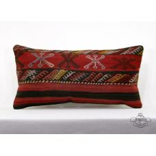 Embroidered Lumbar Turkish Kilim Pillow Retro Interior Decoration Cushion Cover