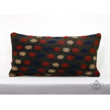 "Vintage Interior Decor Pillow 12x24"" Kilim Pillowcase Embroidered Cushion Cover"