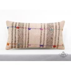 Bohemian Cottage Pillow Interior Decor Accent Lumbar Kilim Cushion Cover 12x24""