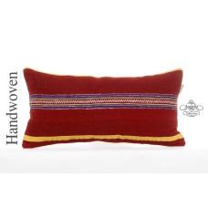 Tribal Lumbar Kilim Pillow 30x60 Rustic Decor Accent Turkish Kelim Rug Cushion