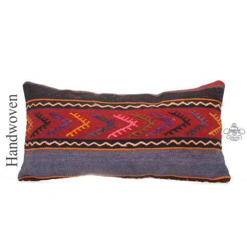 """Embroidered Interior Decor Accent Pillow 12x24"""" Vintage Cushion Cover"""