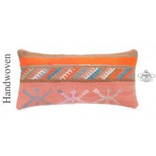 "Boho Cottage Chic Pillow Cover 12x24"" Colorful Bohemian Style Lumbar Cushion"