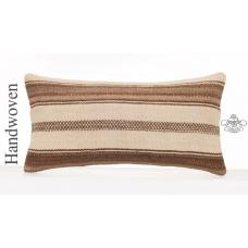 Natural Decorative Kilim Pillow Cottage Decor Accent Lumbar Cushion