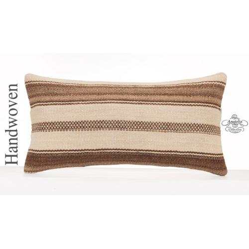 Natural Decorative Kilim Pillow Cottage Decor Accent Lumbar Cushion