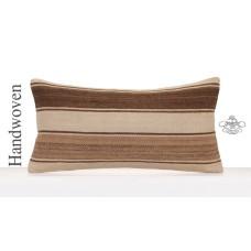 Natural Undyed Kilim Throw Pillow Modern Decorative Cushion Cover