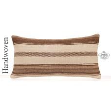 "Cottage Chic Decoration Throw Pillow 12x24"" White Kilim Lumbar Cushion"