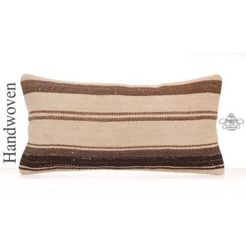 "Ethnic Kilim Throw Pillow Decorative 12x24"" Lumbar Interior Decor Throw"