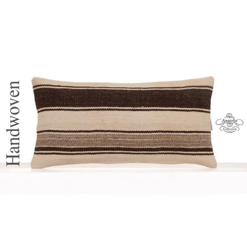 Modern Decorative Kilim Cushion Cover 12x24 Eclectic Sofa Throw Pillow