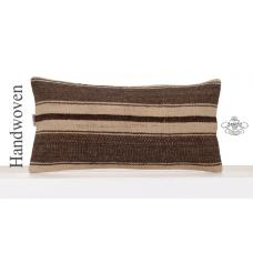 Natural Kilim Cushion Cover 12x24 Lumbar Turkish Sofa Throw Pillowcase