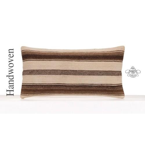 """Modern Home Decor Accent Lumbar Pillowcase 12x24"""" Kilim Throw Pillow"""