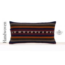 Striped Retro Kilim Cushion Cover 12x24 Lumbar Sofa Couch Throw Pillow