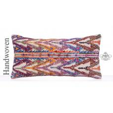 Boho Beauty Throw Pillow Colorful Embroidered Kilim Rug Cushion Cover