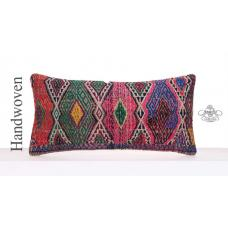 Boho Style Colorful Pillowcase Handmade Kilim Pillow Retro Decor Throw