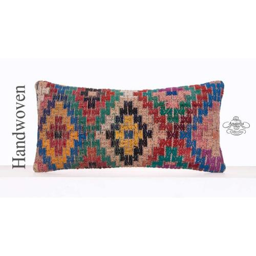 Colorful Bohemian Pillow Eclectic Decor Throw Retro Kilim Rug Cushion