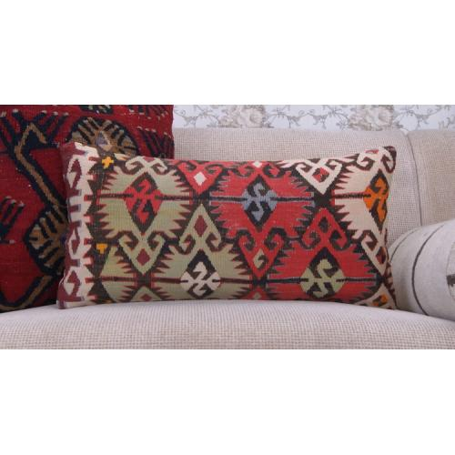 "Oriental Anatolian Kilim Pillow 12x24"" Handmade Home Decor Sofa Throw"