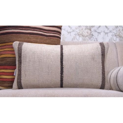 Modern Decoration Accent Lumbar Kilim Pillow 12x24 Handmade Rug Cushion