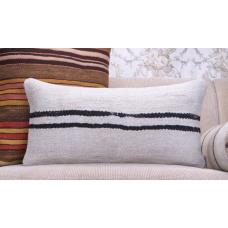 Striped Hemp Kilim Pillow Modern Interior Decor Throw Lumbar Cushion
