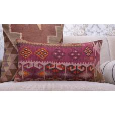 "Oriental Lumbar Kilim Cushion 12x24"" Retro Interior Decor Throw Pillow"