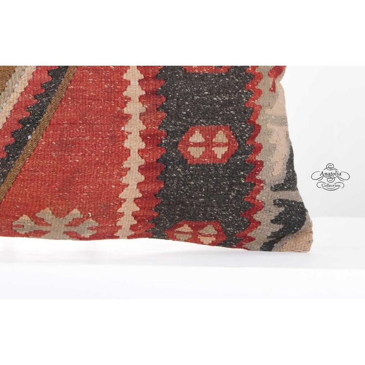 Rectangular Pillows 1900 S Geometric Vintage Kilim