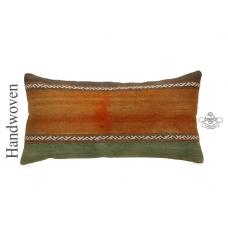 "Vintage Shabby Kilim Pillow 14x28"" Old Lumbar Kelim Pillowcase Retro Cushion"