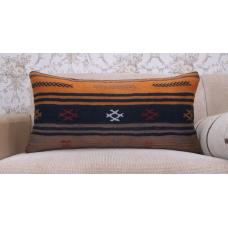 Retro Handmade Lumbar Kilim Pillowcase Ethnic Embroidered Sofa Throw