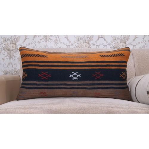 Retro Handmade Lumbar Kilim Pillowcase Ethnic Embroidered Sofa Throw