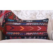 "Ethnic Tribal Sofa Decor Throw Rug Pillow 14x28"" Handmade Kilim Cushion"