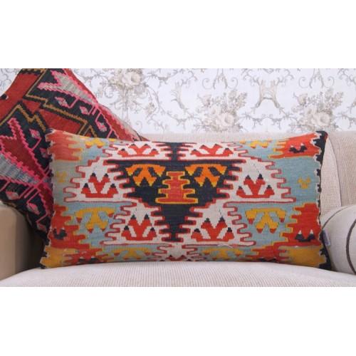 Oriental Lumbar Kilim Cushion Colorful Interior Decoration Throw Pillow