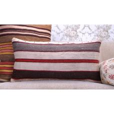"Modern Decorative Kilim Pillow 14x28"" Striped Turkish Rug Throw Cushion"