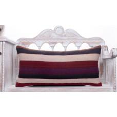 "Long Striped Lumbar Kilim Pillow 14x28"" Decorative Sofa Couch Throw"