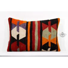 "Anatolian Cottage Pillow Cover 16x24"" Turkish Pillowcase Eclectic Kilim Cushion"