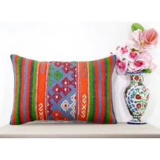 Bohemian Decoration Retro Lumbar Kilim Pillow Cover Cottage Turkish Cushion Sham