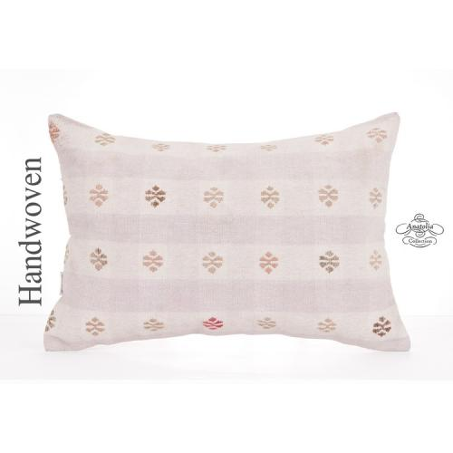 "Decorative Lumbar Kilim Pillowcase 16x24"" Embroidered Pillow Turkish Kelim Throw"