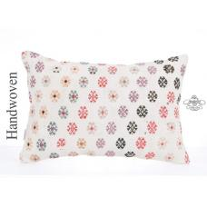 Modern White Shabby Cottage Chic Kilim Pillow 16x24 Decorative Cushion