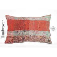 "Chapput Lumbar Kilim Throw Pillow Modern Decorative 16x24"" Turkish Rug Cushion"