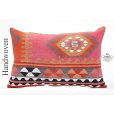 "Boho Kilim Pillow Cover Colorful 16x24"" Aztec Sofa Bed Decor Throw Pillowcase"
