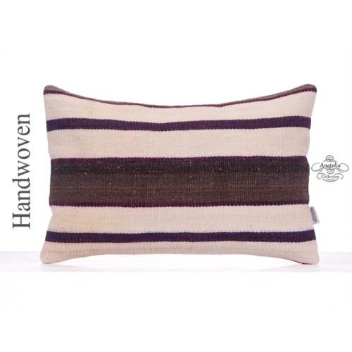 """Modern Interior Decor Kilim Pillow 16x24"""" Lumbar Rug Cushion Cover"""