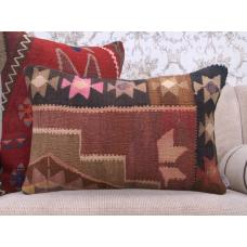 Eastern Kilim Cushion Rectangle Home Decor Accent Vintage Rug Pillow