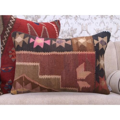Eastern Kilim Cushion Rectangle Home Decor Accent Vintage Rug Pillow