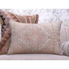 "Faded Vintage Rug Throw Pillow 16x24"" Cottage Decor Lumbar Pillowcase"