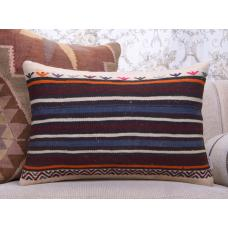Rustic Interior Decoration Lumbar Kilim Pillow 16x24 Striped Sofa Throw