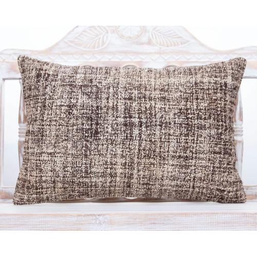 Burlap Gray Lumbar Kilim Pillow 16x24 Handmade Modern Decor Sofa Throw
