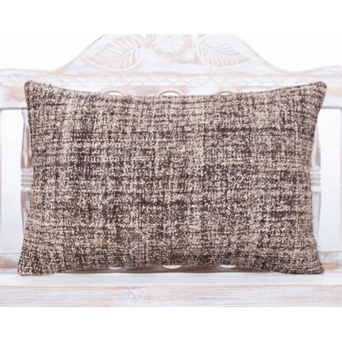 Handmade Gray Lumbar Kilim Pillow 16x24 Burlap Home Decor Throw Cushion