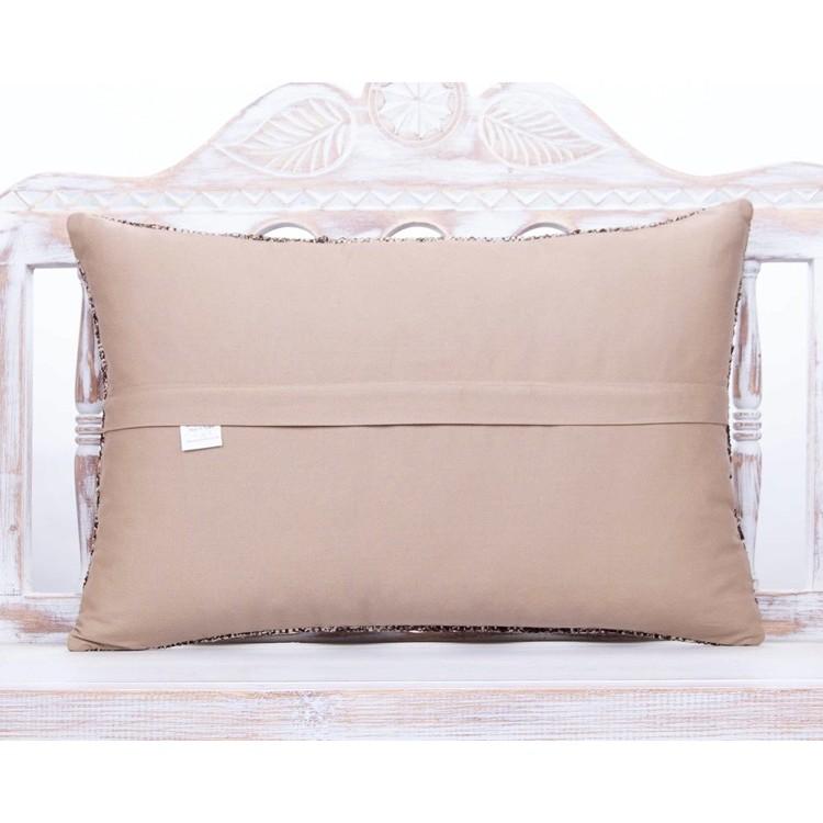 Kilim Lumbar Pillow Cover 12x47 Ft 30x120 Cm  Extra Long Bedding Pillow Turkish Handmade Decorative Home Design OY-255