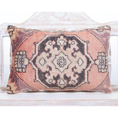 Oriental Vintage Rug Cushion 16x24 Turkish Lumbar Decor Throw Pillow