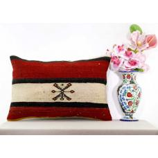 Shabby Chic Retro Kilim Pillow Interior Decoration Turkish Lumbar Cushion Cover