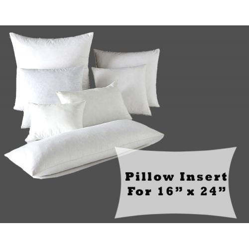 Lumbar Pillow Form Insert Polyester Fiber Fill for 16x24 Pillow Covers