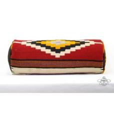 Oriental Bolster Kilim Pillow Designer Handwoven Round Cushion Cover